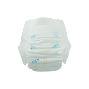 Flat babe pampas animal print baby diaper