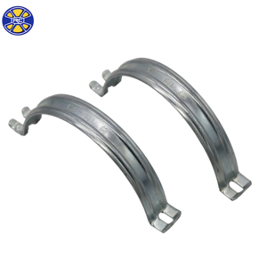 Galvanized Steel U Shape 2 mm Thickness Saddle Clamps for Pipe Fittings