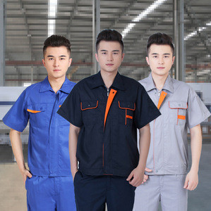 High quality customized logo short sleeve work clothes uniform overalls suit work suit guard security uniform