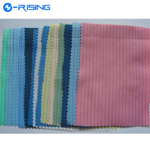 High Quality Polyester Anti-static 98% Polyester Filament Yarn 2% Carbon Fiber Clothing ESD Antistatic Fabric