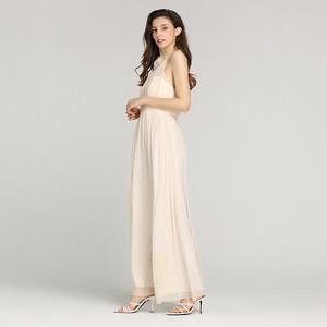 Hot sell white 100%silk 8 mm women georgette sleeveless elegant prom dress with neck laser cut flower