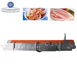 Iqf seafood fish tunnel quick freezer  , iqf tunnel freezer  seafood  fish processing machine, iqf seafood  fish processing