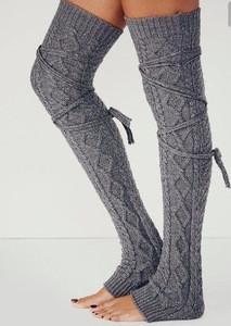Leg Warmers for Women Winter Warm Over Knee High Footless Long Leg Warmers Thermal Acrylic Knit Long Leg Warmers