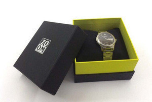 luxury stone paper gift presentation box for watch cases packaging