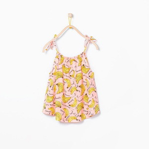 M60883A banana prints summer new arrival kids tank top