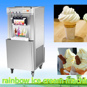Most popular Snack machines air cooling type commercial soft ice cream machine , ice cream maker ,used soft serve ice cream mach