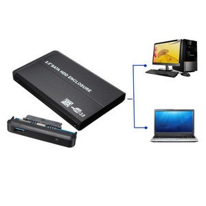 """Newest USB 3.0 SATA HDD Enclosure 2.5"""" IDE Hard Drive Disk HDD External Case Enclosure Box 5Gbps Max with USB Cable"""