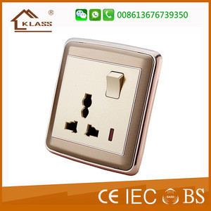 One gang 13 amp plug socket BS power socket with neon for home