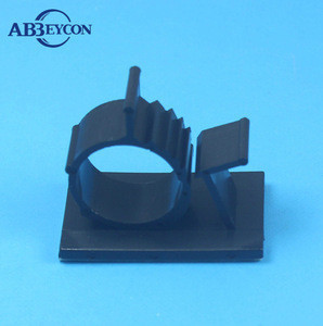 PL-0017 Self-Adhesive Wire Clip plastic cable clip Tape Mount Cable adjustable adhesive tie mount
