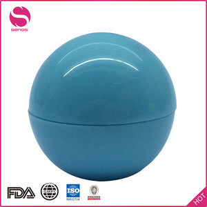Senos Factory Wholesale Customized Color And Logo Waterproof Ball Shaped Herbal Lip Balm