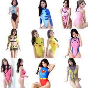 Sexy Costumes Anime Cosplay Swimsuit Widowmaker Bodysuit Eva Asuka Pikachu Dva kimono Mercy Bikini Racer Fancy Dress