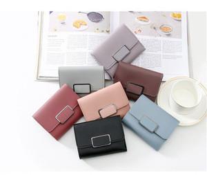 Small wallet female short version students cute mini multi-functional folding card bag key wallet