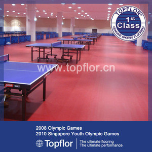 Table Tennis Court Indoor used sports flooring