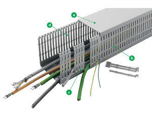VK- Wiring and cable ducts, the cable management system by CONTA-CLIP
