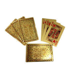 Wenzhou factory direct sell!Chinese Dragon playing card Chinese mascot best wishes gold foil playing card