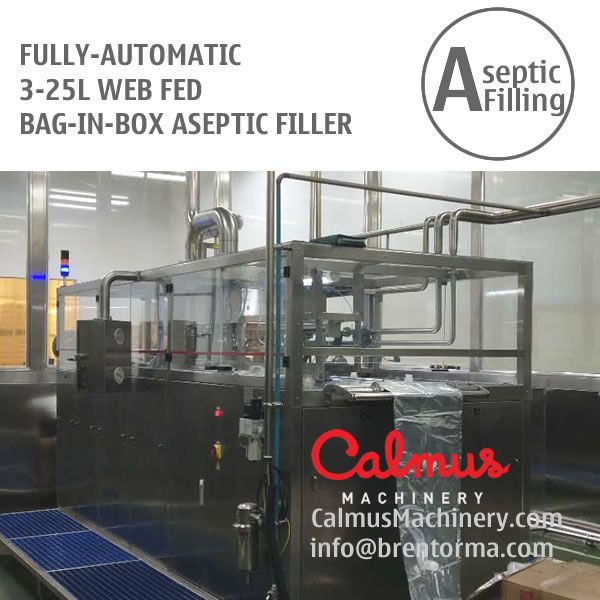 Fully-automatic 3-25L WEB Bag Filling Machine Juice Dairy Bag in Box Aseptic Filler