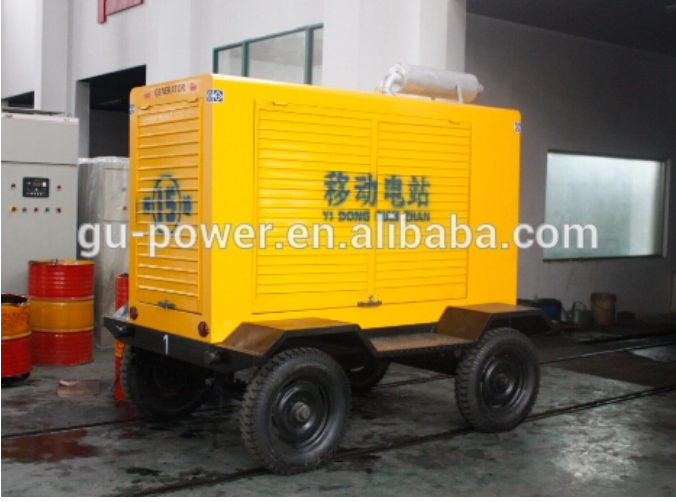 Mobile Diesel Generator 500KW 3 Phase Trailer Genset With Sound Proof Canopy(50HZ)