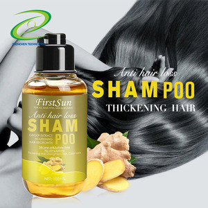 2020 Wholesale Private Label Ginger No Side Effects Hair Loss Treatment Promote Hair Growth Shampoo for Anti Hair Loss