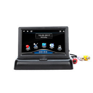 "4.3"" inch foldable TFT LCD Car Monitor Rear View Car Security camera system"