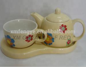 Ceramic Tea and Coffee Set Ceramic Tea Cup Yellow Teapot Set