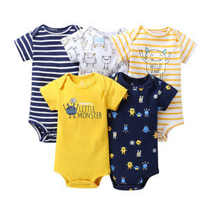 China New Arrival Product Latest Animal Print Ruffle Cotton Animal Print Baby Clothes Boy Rompers Of Free Shipping
