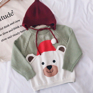 Christmas Cartoon Santa Claus Elk Baby Warm Childrens Sweater  Childrens Wear Winter Sweater