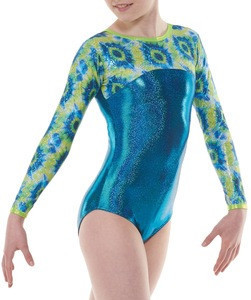 Custom sublimation mystique girls Rhinestone gymnastic dancewear leotards design