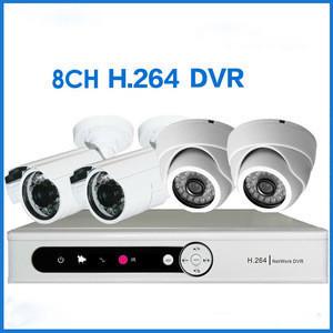 Economic 8 Channel960H HD CCTV DVR with outdoor camera 600tvl