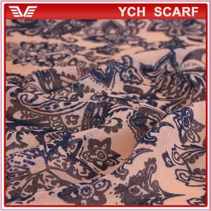 Low Price Wholesale High Quality Printing bali Scarfs With Flower Design