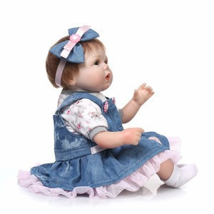 NPKCOLLECTION 17Reborn Dolls with soft real gentle touch Silicone Baby Doll Cartoon doll Hot Sale hot toy