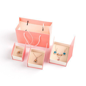 Pink Magnetic Closure Box Paper Jewelry Gift Box Set for Jewelry Packing Jewelry Packaging Box