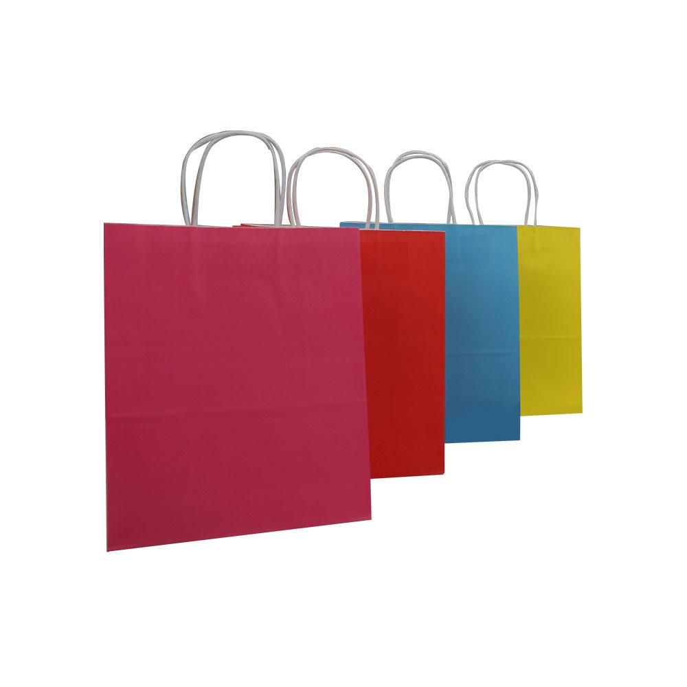 Plain Pinky Color Ptinted Factory Price Kraft Paper Gift Bag