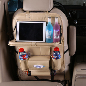 PU Leather Car Back Seat Organizer, Car-Styling Holder Multi-Pocket Stowing Tidying Storage Bag for Car SUV Truck Accessories