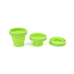 Reusable Foldable Cup Silicone Collapsible Sterilizer for Menstrual Cups