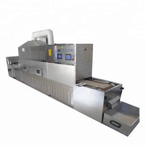 Rice conveyor belt tunnel continuous  microwave sterilizer dryer dehydrator sterilizing sterilization drying machine equipment