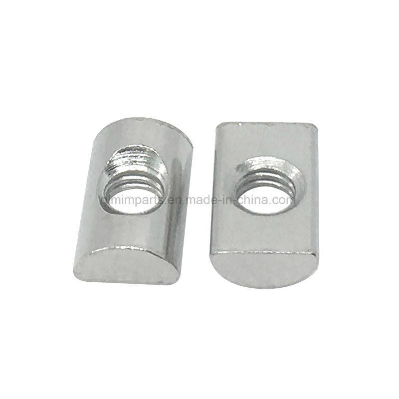 Slide-in T Nut, Lock Nut, Aluminum Profile Nickel Plated