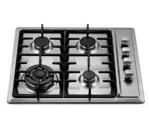 SS45916-1 Stainless Steel 4 Burner Gas Stove Built-In Stoves LPG/NG Gas Cooktop Cooker