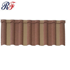 Stone coated steel roofing tiles from China