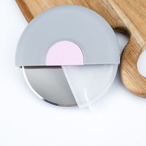 Super Sharp and Easy To Clean Slicer Stainless Steel Pizza Cutter Logo