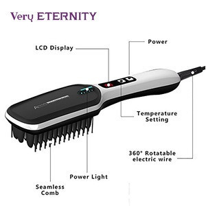 Very Eternity 2019 Popular electric straightening hair brush iron hair straightener brush comb