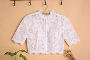 Wedding Bolero Jackets for Evening Dresses Bridal  Jackets O-Neck  Lace Bride Shrugs Capes Party Wraps