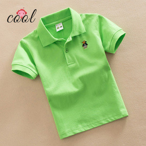 Wholesale Custom  logo  Kindergarten uniform  balank kids white polo shirts