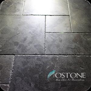 Wholesale High Quality Dark Grey Antique Limestone Flooring On Promotion