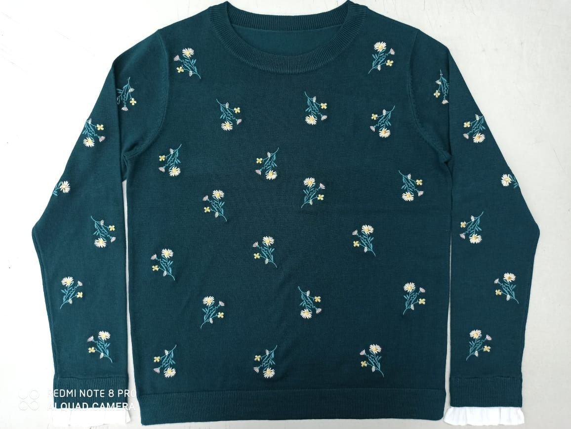 Ladies embroidered Sweater