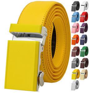 2020 New Design Ratchet Automatic Sliding Buckle Genuine Leather Belt Panton Colors Various Color for men