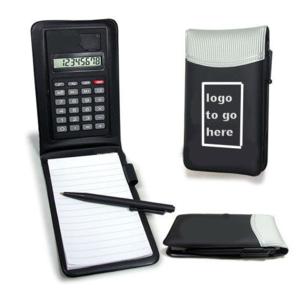 8 digit solar function leather calculator