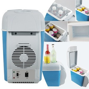 Car Cooler Box 12V Car Mini Portable Freezer 7.5L Portable Car Refrigerator Mini Warming and Cooling Vehicle Fridge