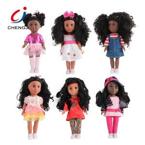 Cheap fashion plastic mini custom alive toy black african girl baby doll