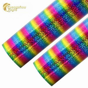 China Best Selling holographic heat transfer vinyl of PET stretch heat transfer vinyl