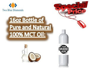 COA 16oz Fractionated Coconut Oil MCT Carrier Expeller Pressed Refined Pure Essential Oil Cocos Nucifera Odorless Clear